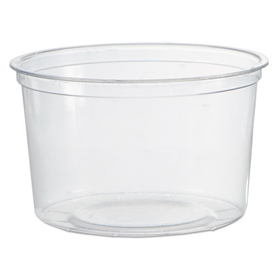 Deli Containers, Clear, 16oz, 50/Pack, 10 Packs/Carton
