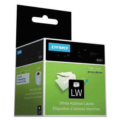 Address Labels, 1-1/8 x 3-1/2, White, 260/Box