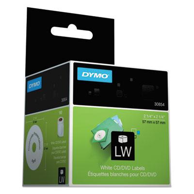 CD/DVD Labels, 2-1/4in dia, White, 160/Box