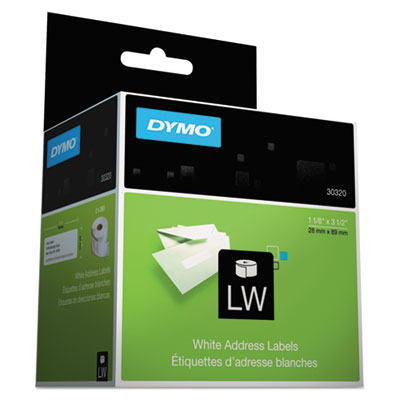 Address Labels, 1-1/8 x 3-1/2, White, 520/Box