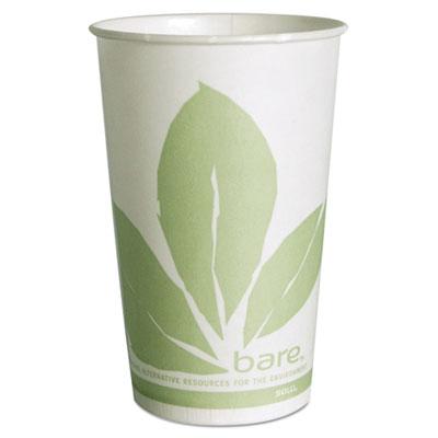 Paper Cold Cup, Bare Design, 16oz, 1000/Carton