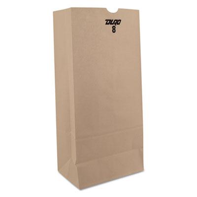 """Kraft Paper Bags, 6 1/8"""" x 4 1/6"""" x 12 7/16"""", White, 500/Carton"""