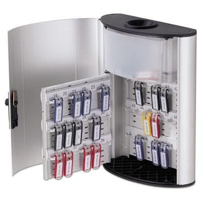 Key Box Plus, 54-Key, Brushed Aluminum, Silver, 11 3/4 x 4 5/8 x