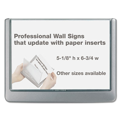 Click Sign Holder For Interior Walls, 6 3/4 x 1/2 x 5 1/8, Graph