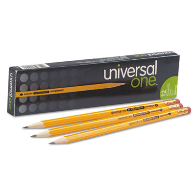 Blackstonian Pencil, HB #2, Medium Soft, Yellow Barrel, Dozen