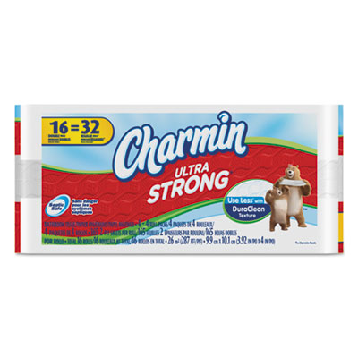 Ultra Strong Bathroom Tissue, 2-Ply, White, 82 Sheets/Roll, 16 R