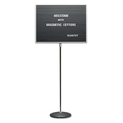 Adjustable Single-Pedestal Magnetic Letter Board, 20 x 16, Black