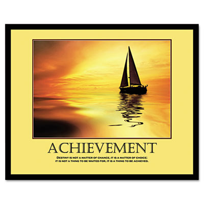 """Achievement"" Framed Motivational Print, 24 x 30"