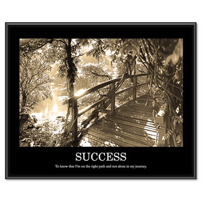 """Success"" Framed Sepia Tone Motivational Print, 30 x 24"