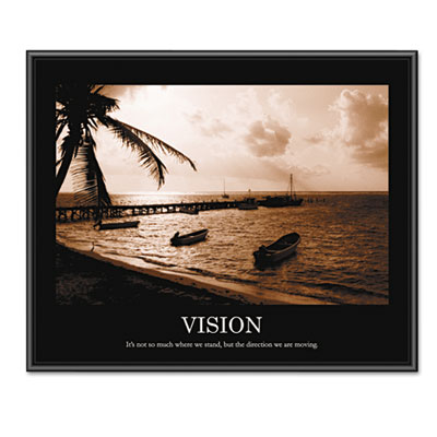 """Vision"" Framed Sepia-Tone Motivational Print, 30 x 24"