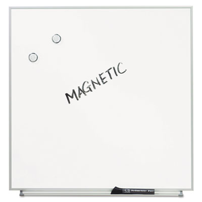 Magnetic Dry Erase Board, Painted Steel, 23 x 23, White, Aluminu