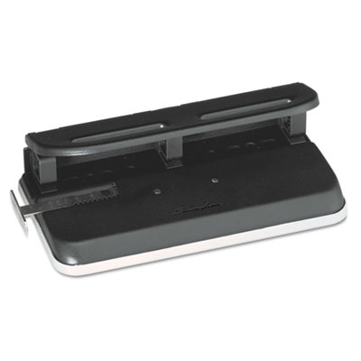 "24-Sheet Easy Touch Three- to Seven-Hole Punch, 9/32"" Holes, Bla"