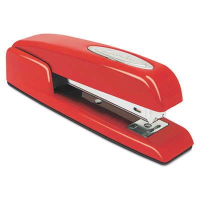 747 Business Full Strip Desk Stapler, 20-Sheet Capacity, Rio Red