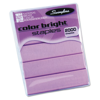 Color Bright Staples, Pink, 2,000/Box