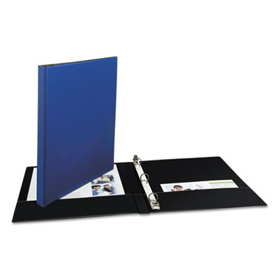 """Avery® Economy Non-View Binder with Round Rings, 11 x 8 1/2, 1/2"""" Capacity, Blue"""