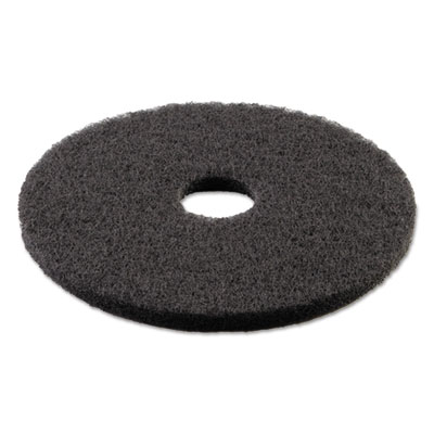 Standard 13-Inch Diameter Stripping Floor Pads, Black
