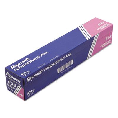 "Extra Heavy-Duty Aluminum Foil Roll, 24"" x 500 ft, Silver"