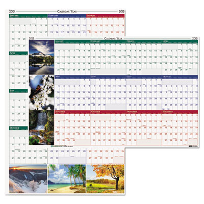 Earthscapes Nature Scene Reversible/Erasable Yearly Wall Calenda