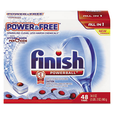 Powerball Power And Free Dishwasher Tabs, 48 Tabs/Box
