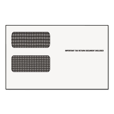 "Double Window Tax Form Envelope/1099R/Misc Forms, 9"" x 5-5/8"", 2"