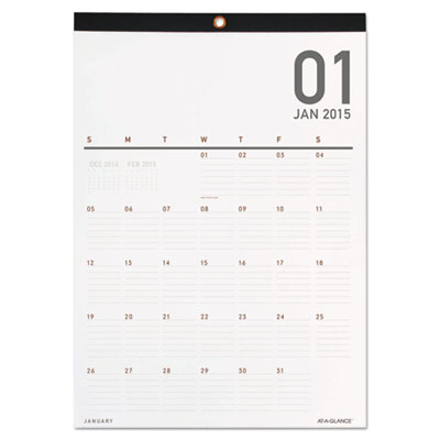 Collections Monthly Wall Calendar, 12 x 16 1/4, 2015