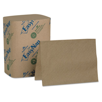 "EasyNap Embossed Dispenser Napkins One-Ply, 6 1/2"" x 9 7/8"", Bro"