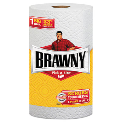 Pick-A-Size Perforated Paper Towels, 2-Ply, 11 x 6, White, 6 Rol