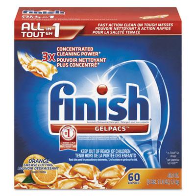 Dish Detergent Gelpacs, Orange Scent, Box of 60 Gelpacs