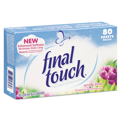 Dryer Sheets, Spring Fresh, 80 Sheets/Box, 6 Boxes/Carton