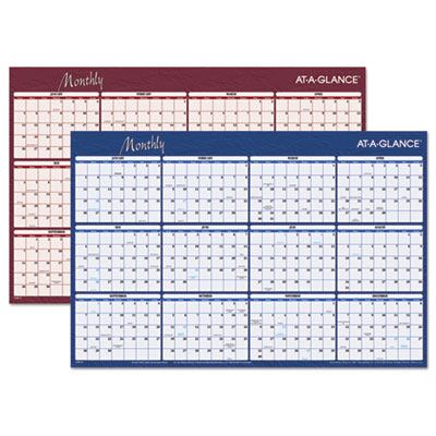 "Horizontal Erasable Wall Planner, 36"" x 24"", 2015"