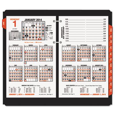 """Burkhart's Day Counter Recycled Desk Calendar Refill, 4 1/2"""" x 7"""