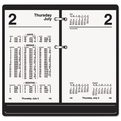 """Financial Desk Calendar Refill, 3 1/2"""" x 6"""", 2015"""