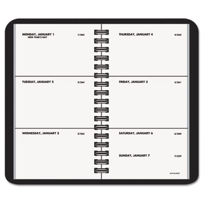 "Recycled Weekly Planner, Black, 2 1/2"" x 4 1/2"", 2015"