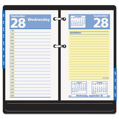 "QuickNotes Recycled Desk Calendar Refill, 3 1/2"" x 6"", 2015"
