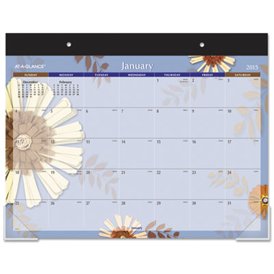 Flowers Desk Pad, 22 x 17, 2015