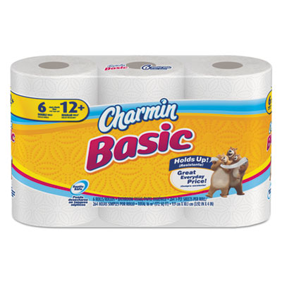 Basic Big Roll, 1-Ply, 4 x 3.92, 264/Roll, 6 Roll/Pack, 48 Roll/