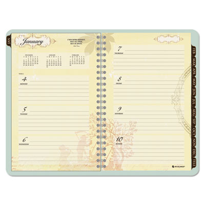 Poetica Weekly/Monthly Planner, 5-1/2 x 8-1/2, Green, 2015-2016