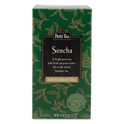 Tea Bags, Sencha, 2.5 oz, 25/Box