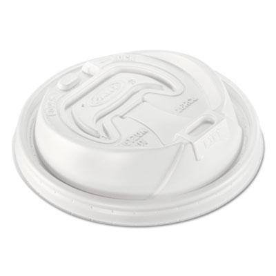 Optima Reclosable Lid, 12-24oz Foam Cups, White, 100/Bag
