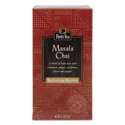 Tea Bags, Masala Chai, 2.5 oz, 25/Box