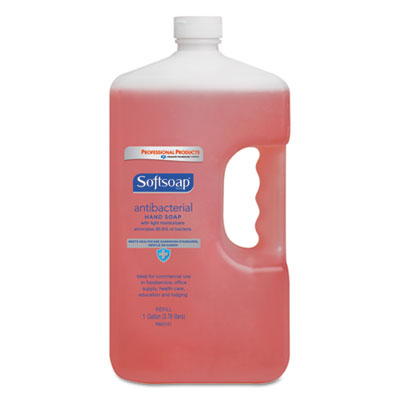 Antibacterial Hand Soap, Crisp Clean, Pink, 1gal Bottle, 4/Carto