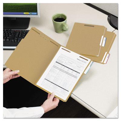 11 Point Kraft Folders, Two Fasteners, 1/3 Cut Top Tab, Legal, Brown, 50/Box