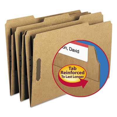 11 Point Kraft Folders, Two Fasteners, 1/3 Cut Top Tab, Legal, Brown, 50/Box<br />91-SMD-19837