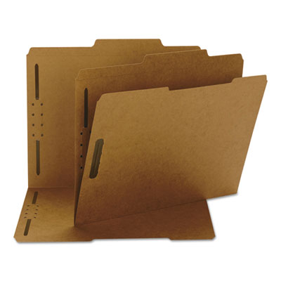 11 Point Kraft Folders, Two Fasteners, 2/5 Cut Top Tab, Letter,
