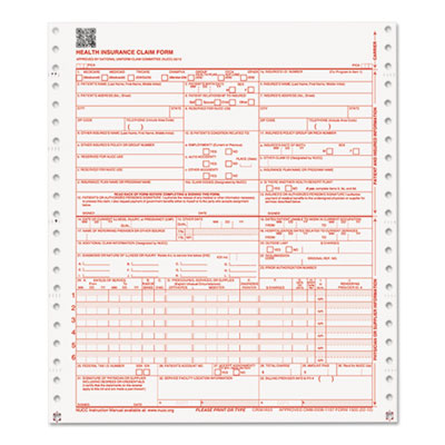 CMS Forms, 2 Part Continuous White/Canary, 9 1/2 x 11, 1000 Form