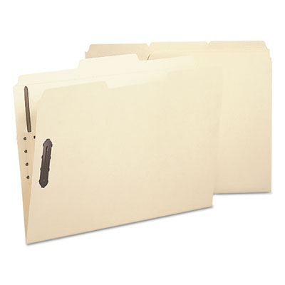 Poly Folder, Two Fasteners, 1/3 Cut Top Tab, Letter, Manila, 24/