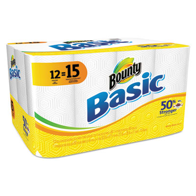 Basic Paper Towels, 11 x 10.4, White, 60/Roll, 12 Roll/Pack
