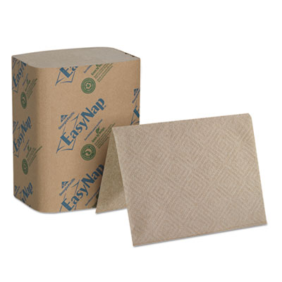 "EasyNap Embossed Dispenser Napkins Two-Ply, 6 1/2"" x 9 7/8"", Bro"