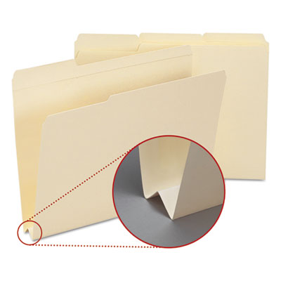 Heavyweight File Folders, 1/3 Tab, 1 1/2 Inch Expansion Letter, Manila, 50/Box<br />91-SMD-10405