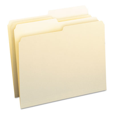 File Folders, 1/2 Cut, One-Ply Top Tab, Letter, Manila, 100/Box<br />91-SMD-10320